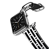 Casetify Bands Compatible for Apple Watch Bands 38mm 42mm with Silver Stainless Steel Buckle Replacement Band for iWatch Apple Watch Series 4 Series 3 Series 2 Series 1 (Modern Lines & Circles)