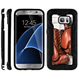 TurtleArmor | Compatible with Samsung Galaxy S7 Case | G930 | Hard Shell Brushed Metal Hybrid Fitted TPU Case Sports and Games - Boxing Gloves