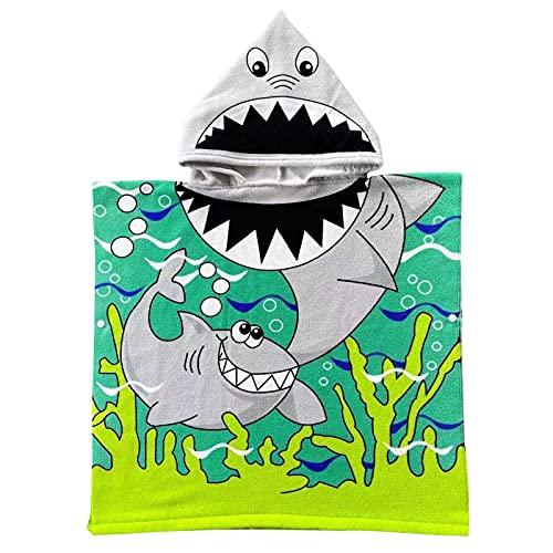 Accappatoio per Bambini Telo Mare, Asciugamano con Cappuccio Cartone Animato Bambino,100% Microfibra Accappatoio per Bambini Telo Mare per Ragazzi Ragazze Fare il Bagno Nuoto Vacanza Al Mare Beach