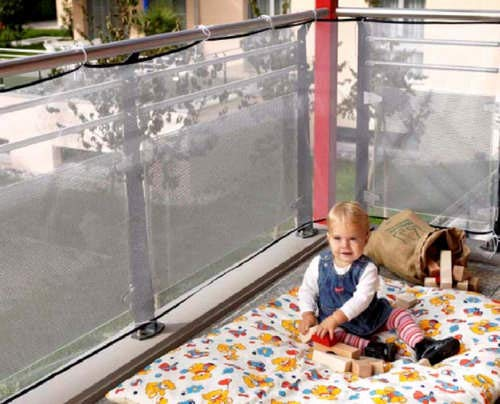 REER Filet de protection pour balcon 94cm x 294cm