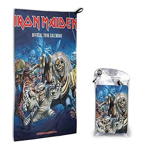 Large Puzzle Iron Maiden 100% algodón, tacto súper suave, perfecto para el hogar, playa y piscina, 40 x 80 cm