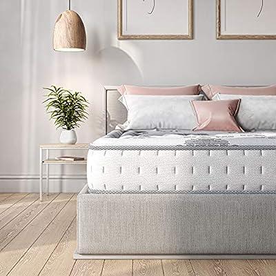 Classic Brands Decker Memory Foam and Innerspring Hybrid 10-Inch Mattress   Bed-in-a-Box Queen