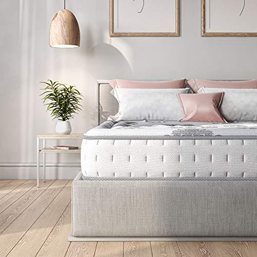 Classic Brands Hybrid Memory Foam and Innerspring Mattress, Twin XL, White
