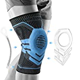 HIROUMER Knee Brace with Side Stabilizers, Knee Compression Sleeve Used to Exercise, Knee Braces for Knee Pain, Lengthened Y-Shaped Silicone Pad Design - Knee Support for Men & Women