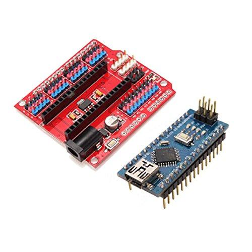 Bluelover Funduino uitbreidingskaart Nano + Atmega328P Nano V3 beste versie voor Arduino
