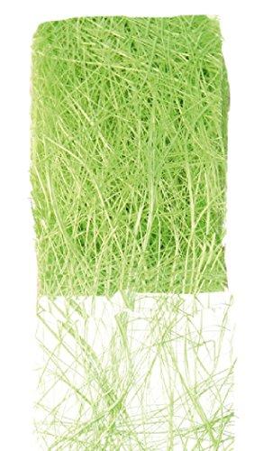 Chal - Ruban abaca vert Larg.7cm. Rouleau de 5 mètres