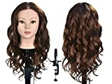 XT 20-22 '' cabeza maniquí con 100% real pelo humano largo recto peluquería práctica entrenamiento cabeza cosmetología pelo peinado cabeza