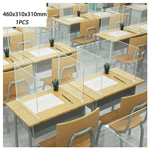 JIZHENG Hustenschutz Trennwand, Schreibtisch-Trennwände Büro-Trennwände Virenschutz Niesschutz, Sichtschutz für Schule, Klassenzimmer, Büros, Bibliotheken