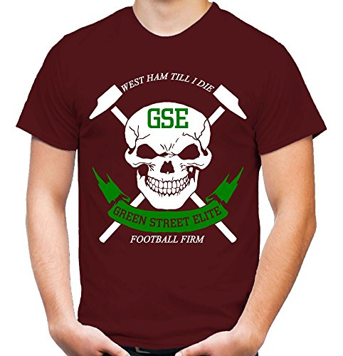 Uglyshirt87 Green Street Elite heren en heren T-shirt | GSE West voetbal Ultras Hooligan Ham