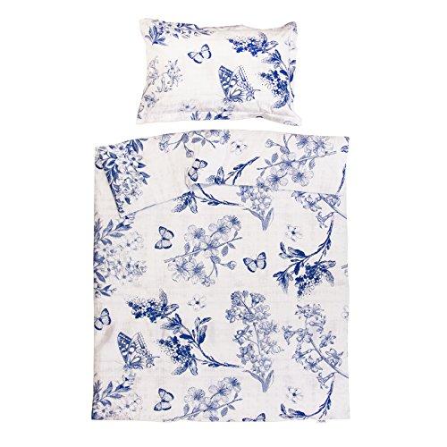 Josephine - Pati'Chou 100% Coton Parure Linge de lit pour bébé (Taie d'oreiller et Housse de couette 100x140 cm)