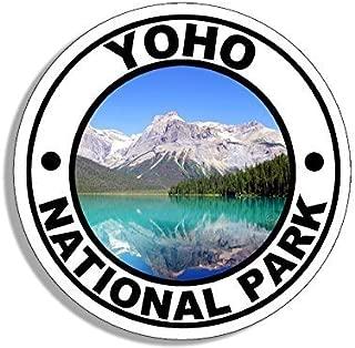 GHaynes Distributing Round YOHO National Park Sticker Decal (travel rv hike BC canada) Size: 4 x 4 inch
