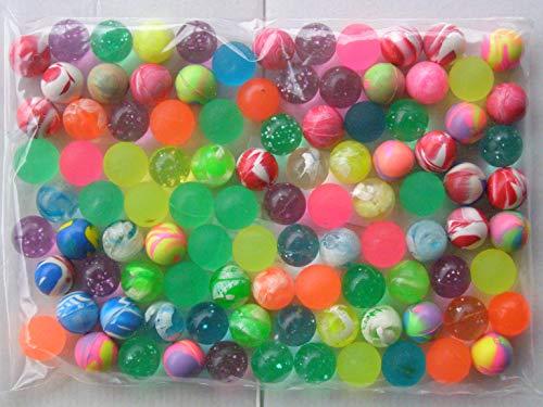 Unbekannt 100 x Flummi 20 mm Wurfmaterial Fasching Karneval Fastnacht Ball Bälle Mitgebsel Kindergeburtstag Tombola Dropsball Springball