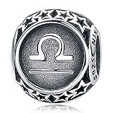 NINAQUEEN Charm für Pandora Charms Armband Waage Sternzeichen Geschenk für Frauen Silber 925 Zirkonia Antibakterielle Eigenschaften Schmuck Damen mit Schmuckkasten