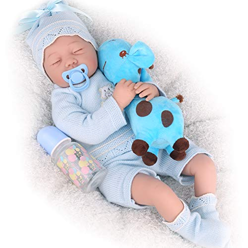 CHAREX Realistic Reborn Baby Dolls Boy Sleeping 22 Inch Weighted Newborn Silicone Baby Dolls Lifelike Dolls for Girls Real Looking Baby Dolls That Look Real Gifts for Kids Age 3+