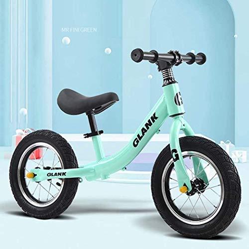 LAMTON Gleichgewicht Bike Scooter 2-6 Jahre alt Kinder Kinder - höhenverstellbarem Sitz - Baby Walker luftgefüllten Gummireifen for Kleinkinder - kein Pedal-Roller-Fahrrad, Grün, Ordinary Modelle
