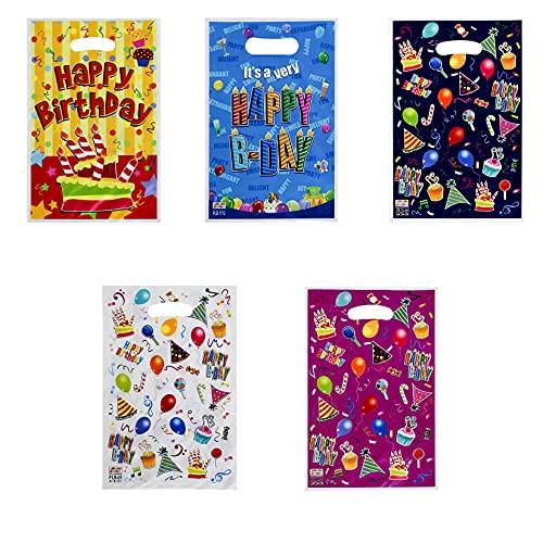 25Pezzi Sacchetti Regalo,Sacchetti Compleanno, Sacchettini Compleanno Bambini,Sacchettini di Festa Biscotto Borsa di Regalo Sacchetto per Bambini Feste di Compleanno,Natale,Matrimoni,Partito Nozze,
