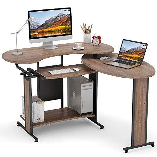 Little Tree Small L-Shaped Computer Desk