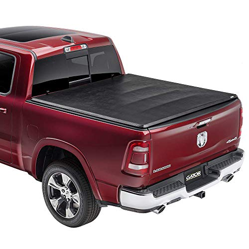 Gator ETX Soft Tri-Fold Truck Bed Tonneau Cover | 59421 | Fits 2019 - 2020 Dodge Ram 'New Body Style' w/out Multifunction Tailgate 5'7' Bed | Made In The USA