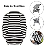 Baby Car Seat Cover - Infant Car Canopy Nursing Cover for Boys Girls(Stripe)