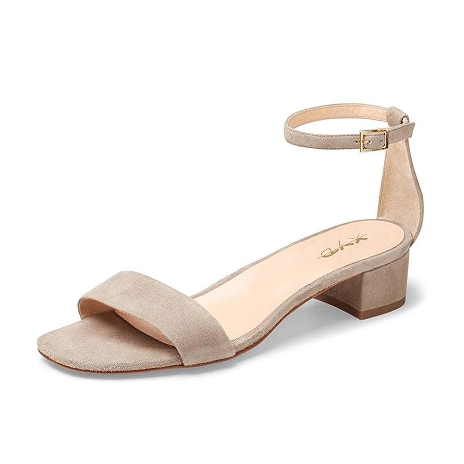 XYD Women Open Toe Strappy Low Block Heel Sandal Pumps Ankle Strap Wedding Dress Shoes