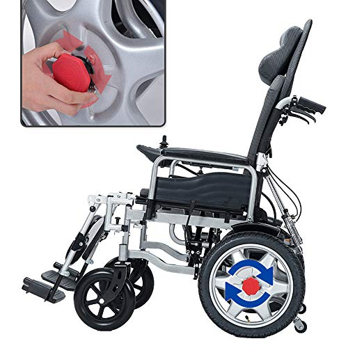 Cestbon Faltbarer Power Kompakter Mobilitätshilfe-Rollstuhl, Leichter Elektrischer Elektrorollstuhl, Tragbarer Medizinischer Roller, Unterstützt 265 £, Mit Pedalen Und Sitzen,Schwarz