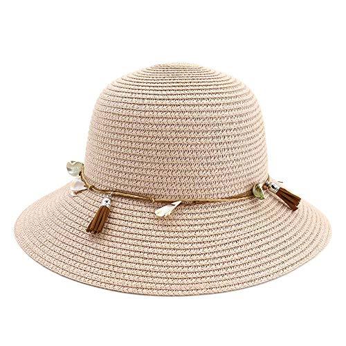 ShanShan Mu Nieuwe dames strand groot langs de koepel hoed vizier mode grote sun hat bekken hoed visser hoed The adjustable naakt poeder