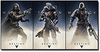 Lawrence Painting Shooting Game Destiny Art Canvas Poster Print 6 Home Bedroom Decor Hunter Warlock Titan 34