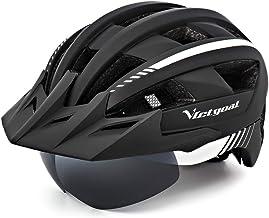 کلاه ایمنی دوچرخه VICTGOAL برای آقایان خانمهایی که دارای عینک مغناطیسی قابل جداشده با چراغ های جداشده از نور می باشند ، می توانند در معرض آفتاب جداشده از Sun Sun Visor کوه و جاده دوچرخه دوچرخه اندازه قابل تنظیم کلاه های دوچرخه سواری بزرگسالان قرار بگیرند