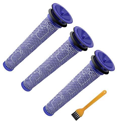 3 Stück Waschbar Pre Motor Stick Filter Zubehör für Dyson DC58 DC59 DC61 DC62 DC74 V6 V7 V8 Staubsaugerzubehör de ABC life …