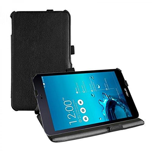 eFabrik Smart Cover Hülle Schutz Tasche für Asus MeMo Pad 8 ME581CL (8 Zoll) Tablet-PC Leder-Optik schwarz