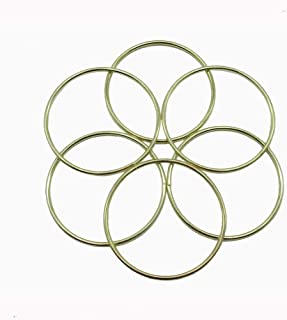 6 Pcs 3 Inch Gold Metal Rings Hoops Macrame Ring for Dream Catchers and Crafts