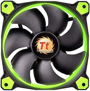 Thermaltake Riing 12 LED - Ventilador de 120 mm, Color Verde