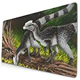 Baby Allosaurus Design Pattern XXL XL Large Gaming Mouse Pad Mat Long Extended Mousepad Desk Pad Non-Slip Rubber Mice Pads Stitched Edges (29.5x15.7x0.12 Inch)