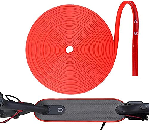 HDONG Protección para monopatín eléctrico Cuerpo de Parachoques Tira Anti-colisión Accesorios de Tambor eléctrico (8M)-Rojo