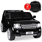 Best Choice Products Kids 12V 2-Seater Licensed Land Rover Ride On w/ RC, Lights/Sounds, MP3, Black
