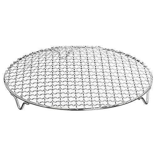 Vaorwne - Barbacoa de acero inoxidable multiusos con alambre en cruz, para cocinar al vapor, parrilla de carbón con patas (8,25 pulgadas de diámetro), 1 paquete