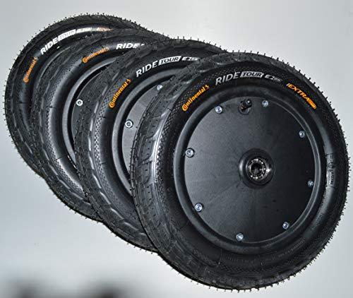 Radsatz für Seifenkiste Räder Rad mit Kugellager Continental Reifen 12 Zoll 62-203
