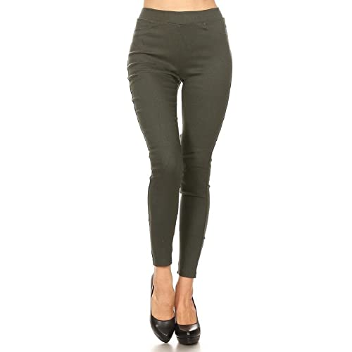 c6223fd1a0c Jvini Women s High Waist Pull-On Skinny Super Stretchy Jeggings   Capris  Regular   Plus