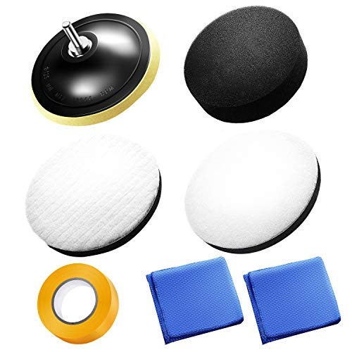 NESHEXST ポリッシャー バフ 簡単取り扱い説明書 マイクロファイバータオル マスキングテープ付き