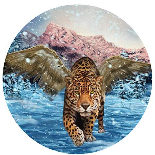 Wings Tiger Snow Cojines Antideslizantes cómodos Alfombra Redonda Alfombra Redonda Alfombrilla Linda Alfombra de baño Redonda 60cm