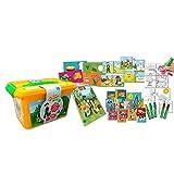 Cife memo Cajón de Actividades Reino Infantil-desarrolla con Tus Amigos de La Granja de Zenón tu imaginación, Creatividad y Memoria, Color Multicolor con predominio del Naranja y verdecillo (41967)