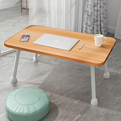 Klapptisch, Klappbarer Nachttisch Schreibtisch Computertisch Studiertisch Einfacher Esstisch Fauler Tisch Glatt Leicht Zu Reinigen Ladekapazität Stark Platz Sparen (60*30*27 cm,4 Farben)