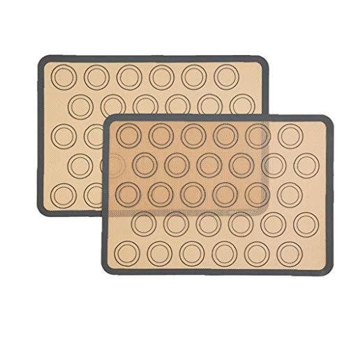 Silicona Formas Mat con mediciones, hoja de silicona Macaron Hornear Hornear Mat moldes para hornear Hoja de revestimientos de cookies pizza panificadora