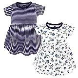 Hudson Baby Girl's Cotton Dresses, Blueberries, 6-9 Months