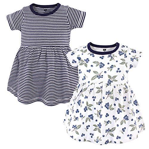 Hudson Baby Baby Girl Cotton Dresses, Blueberries, 2 Toddler
