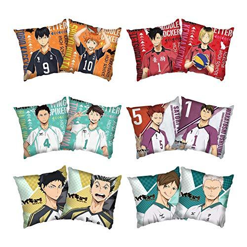 SGOT Anime Haikyuu Kissenbezug, 45 x 45 cm, Cartoon Pillowcase, dekorative Kissenbezüge(6 pcs Set)