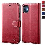 OCASE iPhone 11 Hülle Handyhülle [Premium Leder] [Standfunktion] [Kartenfach] [Magnetverschluss] Flip Hülle Cover Etui Schutzhülle lederhülle flip case für iPhone 11 Rot
