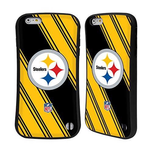 Head Case Designs Oficial NFL Rayas 2017/18 Pittsburgh Steelers Carcasa híbrida Compatible con Apple iPhone 6 Plus/iPhone 6s Plus