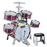 LIUFS BateríA para Principiantes para NiñOs, Instrumentos De PercusióN para BateríA, Instrumentos De PercusióN Grandes, BateríA Multifuncional, Juguetes para NiñOs De 3 A 6 AñOs