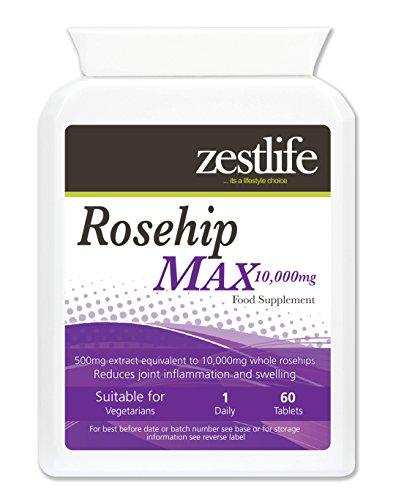 2000mg ROSA MOSQUETA ( OFERTA ESPECIAL ) alta en vitamina C , contiene vitaminas A, B y D , flavonoides antioxidantes y ácidos grasos esenciales . Propiedades anti - inflamatorias que ayudan en la osteoartritis y la artritis reumatoide. Contiene esteroles carotenoide , vegetales y puede prevenir enfermedades del corazón